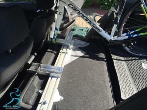 fertiger Radträger beim Probesitzen